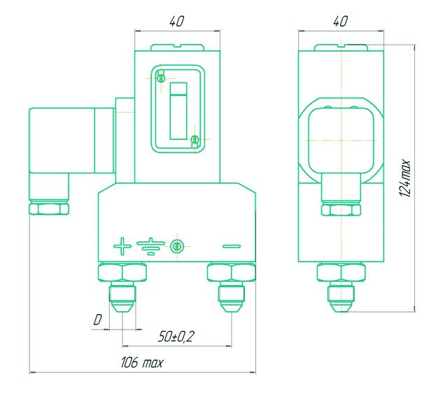 Габаритные размеры ДЕМ-202М Раско